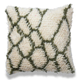 Bohemian 20 X 20 White Wool Cushion shaggy Square pillow Moroccan Pillow Cover Hand WovenLiving Room Decor Sofa Couch home housewarming gift
