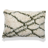 Bohemian 16 X 24 White Wool Cushion shaggy lumbar pillow Moroccan Pillow Cover Hand WovenLiving Room Decor Sofa Couch home housewarming gift