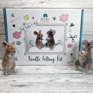 Needle Felt 2 Mice Cute Craft kit