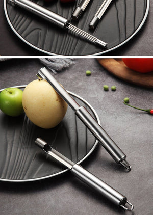 4 Pcs Stainless Steel Fruit Corer - 4 Sizes