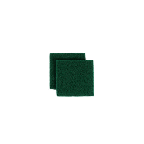 SCOURING PAD GREEN 14*14CM ADVANCE