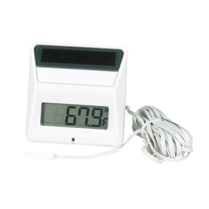 Panel Thermometer Square Solar Powered
