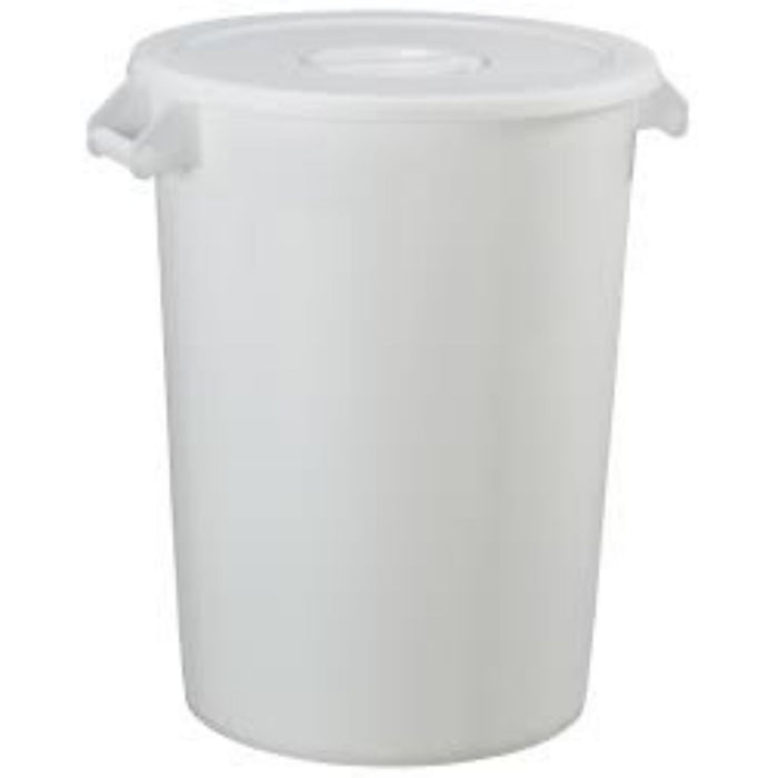 WASTE CONTAINER PLASTIC WITH LID ROUND 100 L CLASSIC