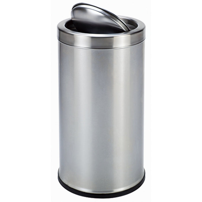 STAINLESS STEEL WASTE CONTAINER SWING TOP ADVANCED