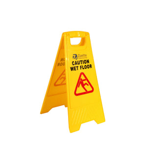 "SIGN ""CAUTION WET FLOOR"" 2 SIDES CLASSIC"