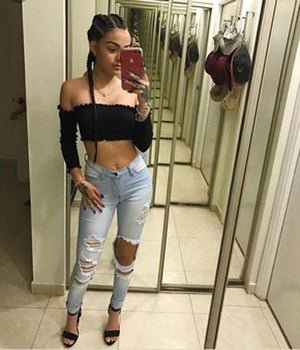 ARLINE ripped jeans