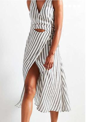 stripe cute dress