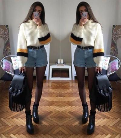 2 pcs plus size suit  pullover sweater