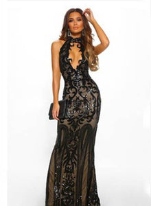 ALFREDA halter bodycon prom dress