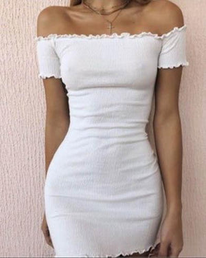 WILDA off shoulder bodycon dress
