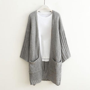 Lady Long Sleeve Loose Cardigan