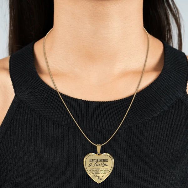 Always Be There (Love Dad) Heart Necklace