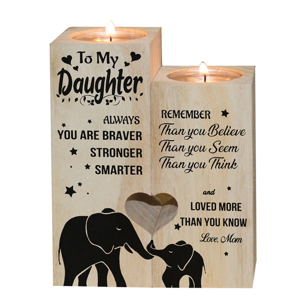 To My Daughter (Love Mom) Candle Holder