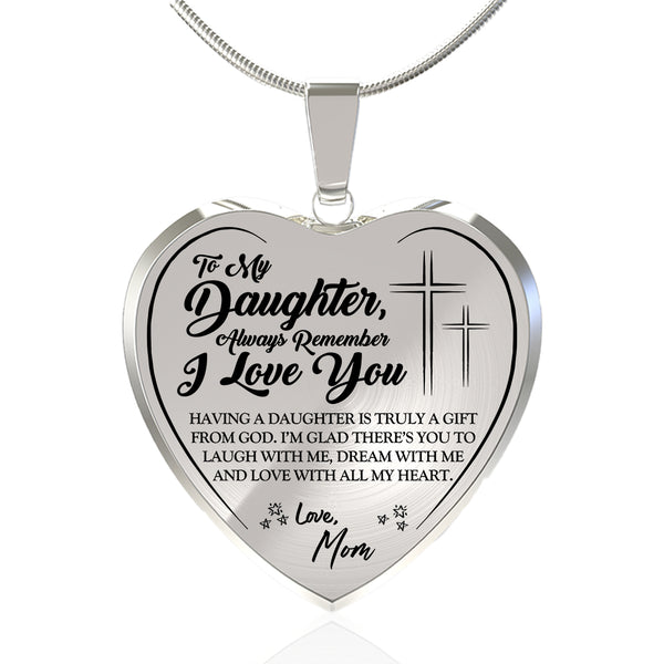 Always Remember 'I Love You' (Love Mom) Faith Necklace