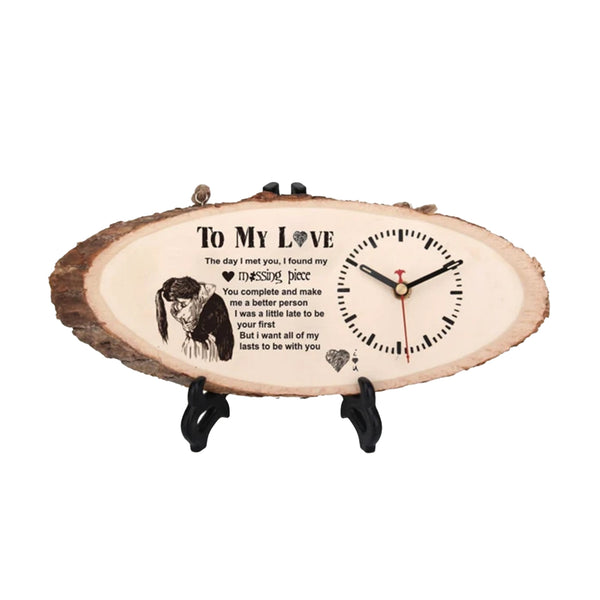 'To My Love' Engraved Clock