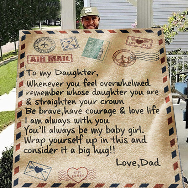 To My Daughter (Love Dad) Printed Blanket