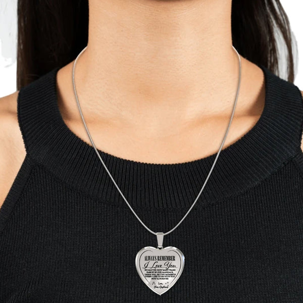 Love You Forever (Love Husband) Heart Necklace