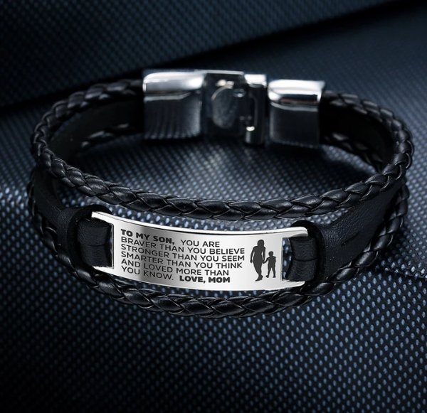 'From Mom to Son' Bravery Bracelet