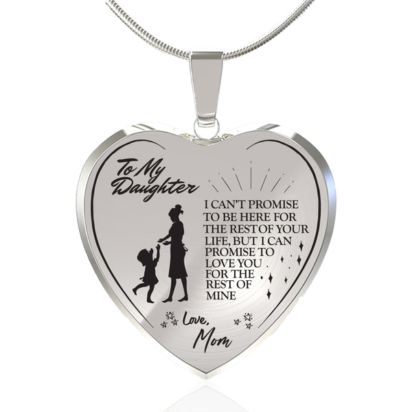 Promise To Love (From Mom) Heart Necklace