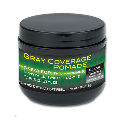4 oz. Gray Coverage Pomade (Black) | Gray Coverage Pomade | Best Gray Coverage Pomade