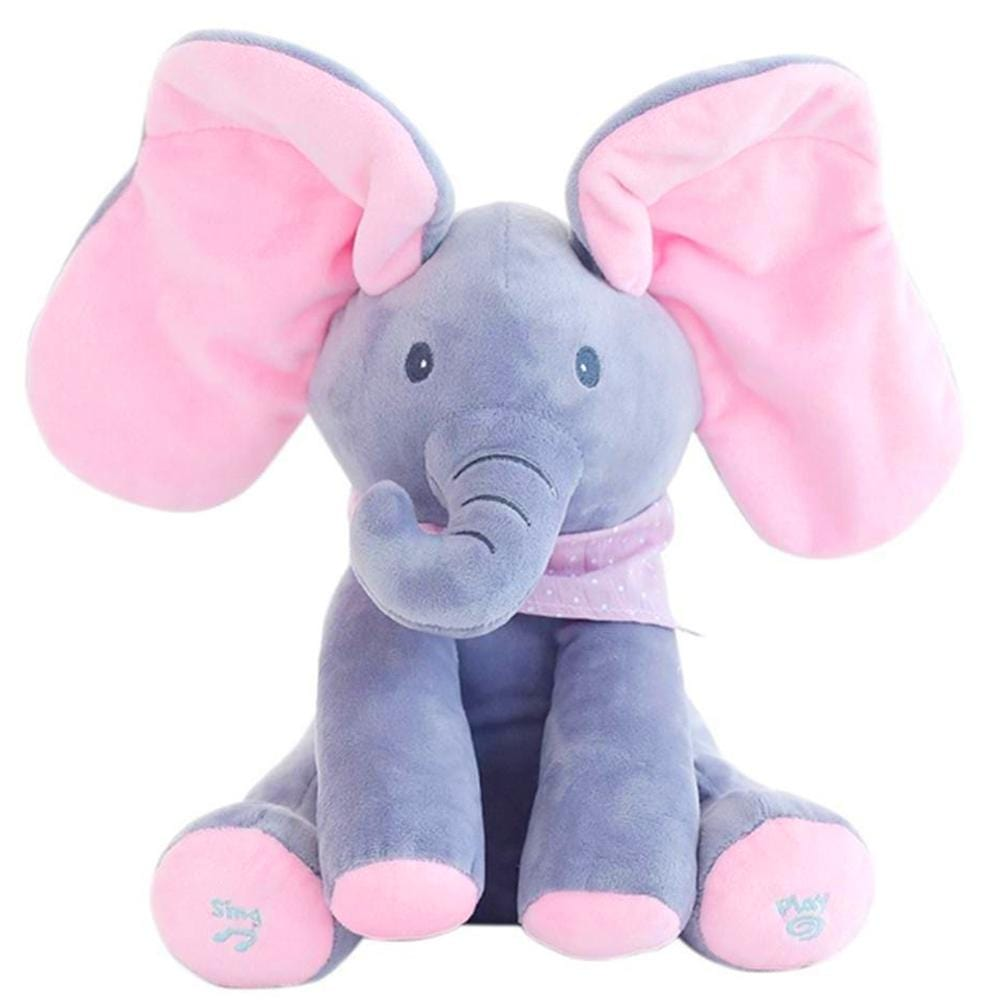 Peek-a-Boo Animated Talking and Singing Elephant Baby Kids Educational Toys