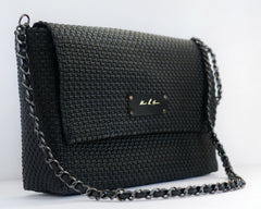 Elysian Crossbody and Clutch - Black - Mavis by Herrera