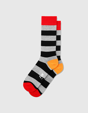 MEDIA RUGBY STRIPE DRESS CREW - FUN SOCKS