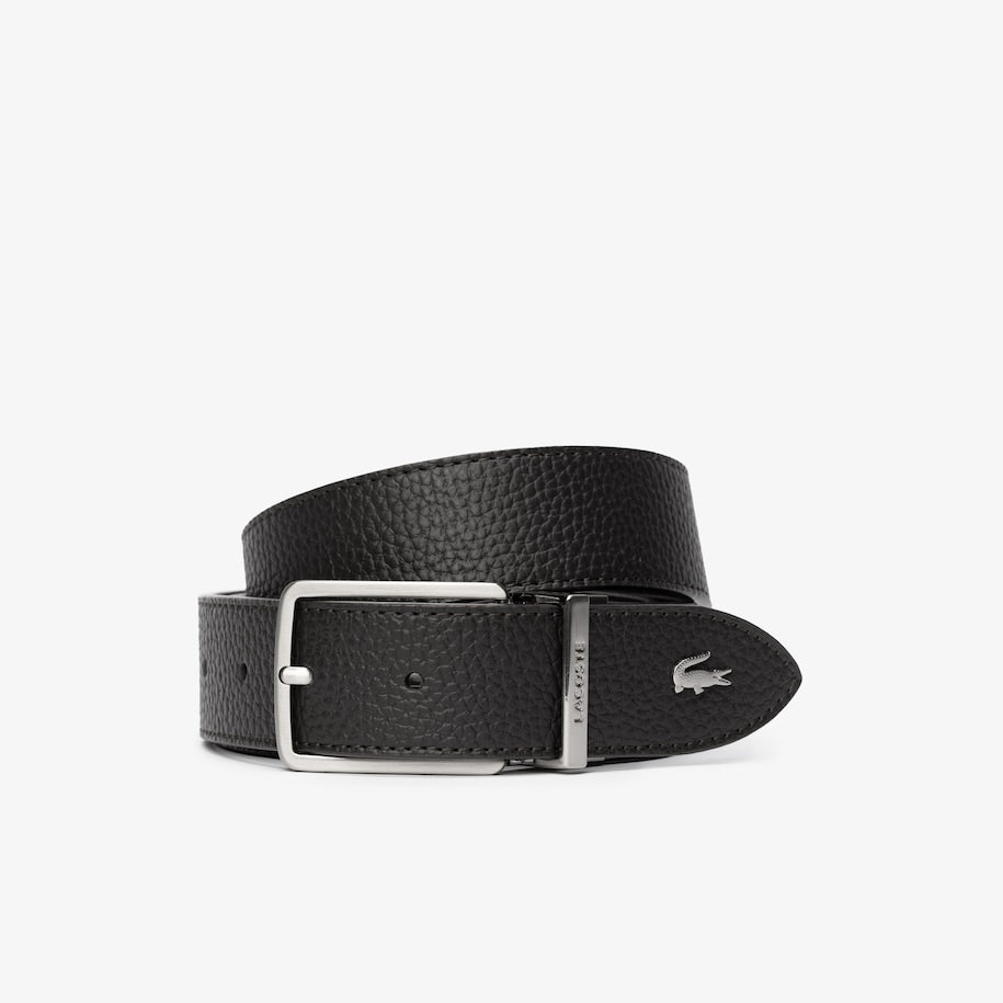 CORREA LACOSTE LEATHER REVERSIBLE - MARRÓN