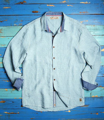 Paros Bay Dot Linen Shirt