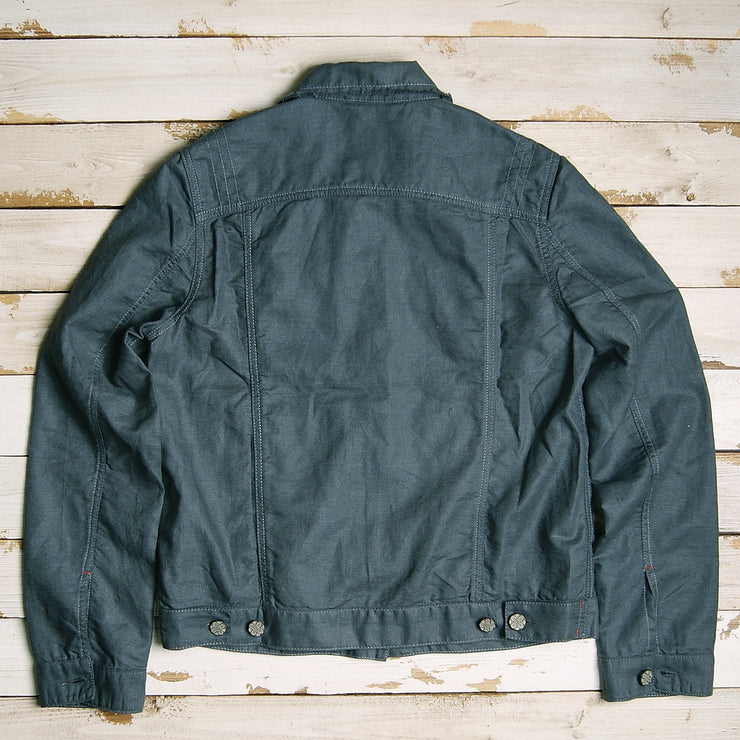 Palms Linen Rawedge Jacket