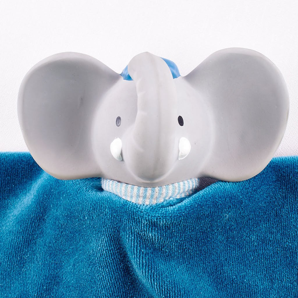 Alvin the Elephant - Puppet Snuggly with Rubber Head