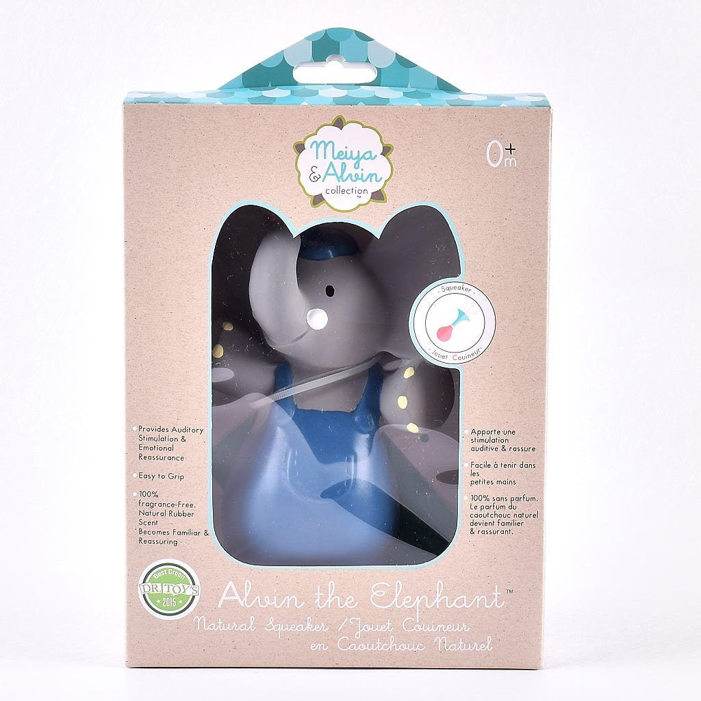 Alvin the Elephant - All Rubber Squeaker Toy