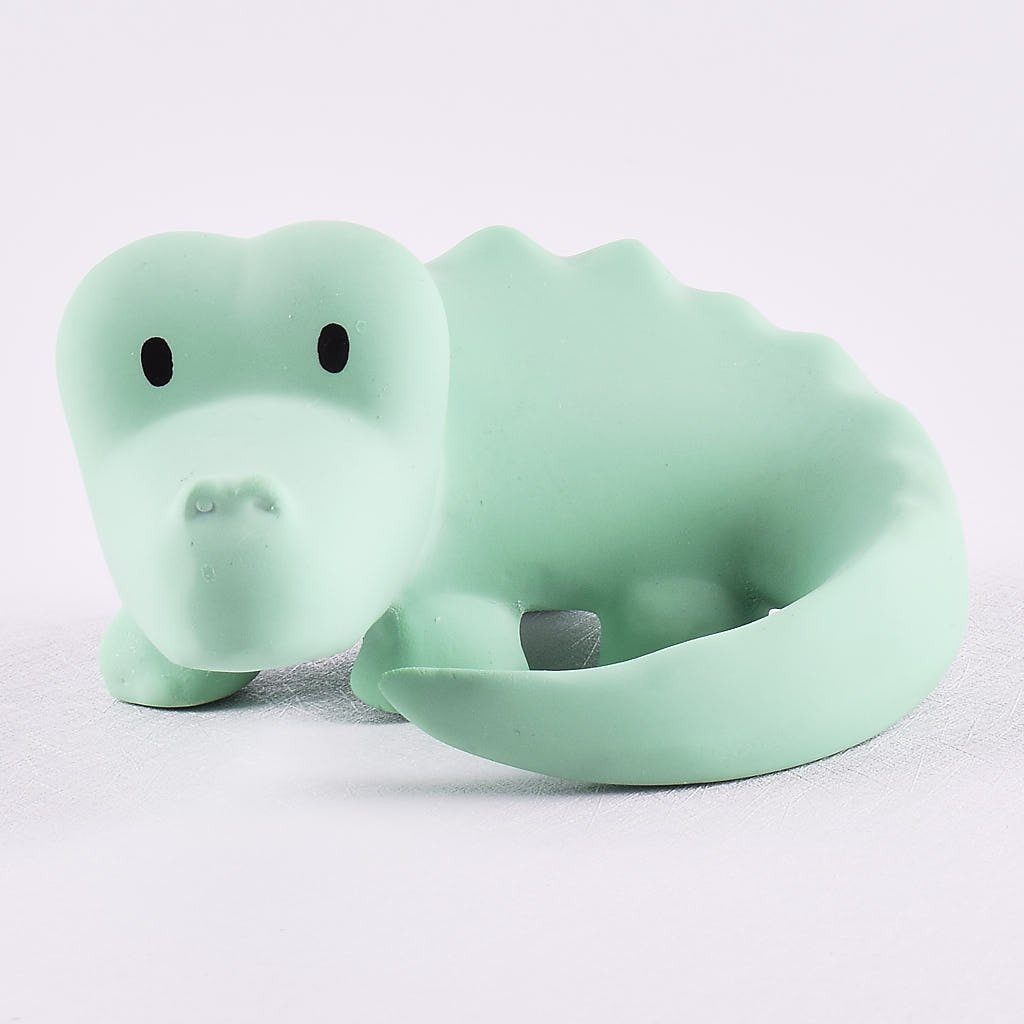 Crocodile - Natural Rubber Rattle