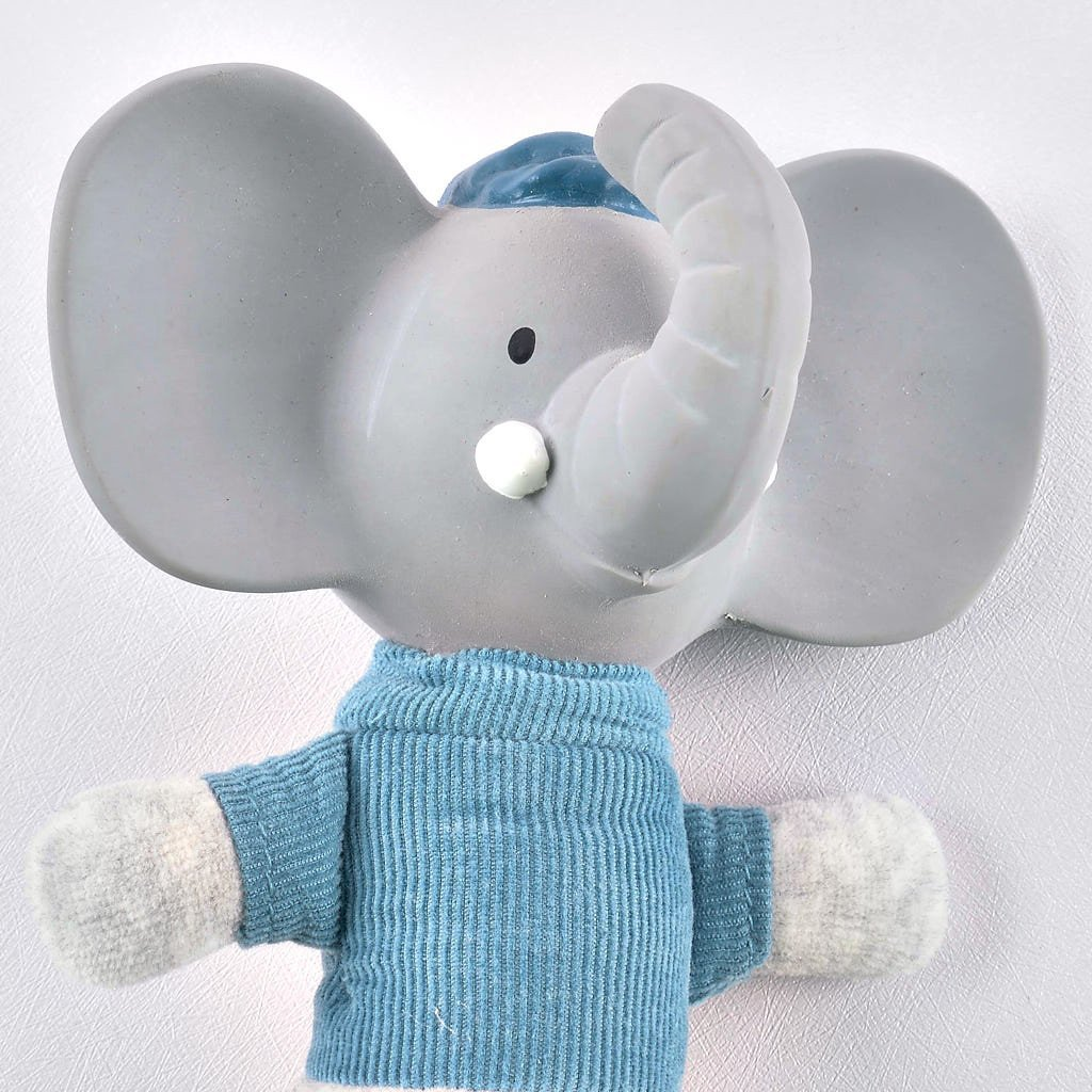 Alvin the Elephant - Soft Squeaker Toy with Rubber Head