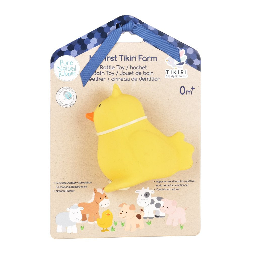 Chick - Natural Rubber Rattle