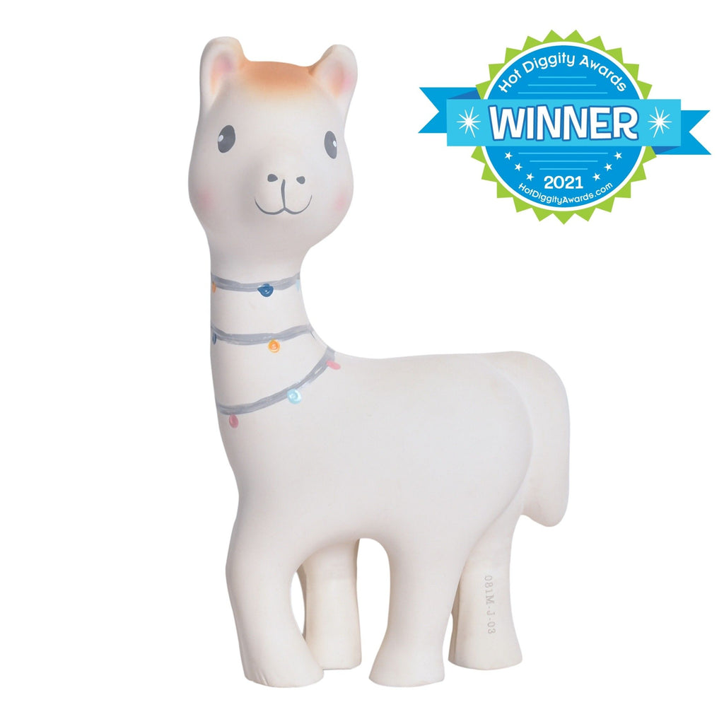 Lilith the Llama Natural Rubber Rattle Toy