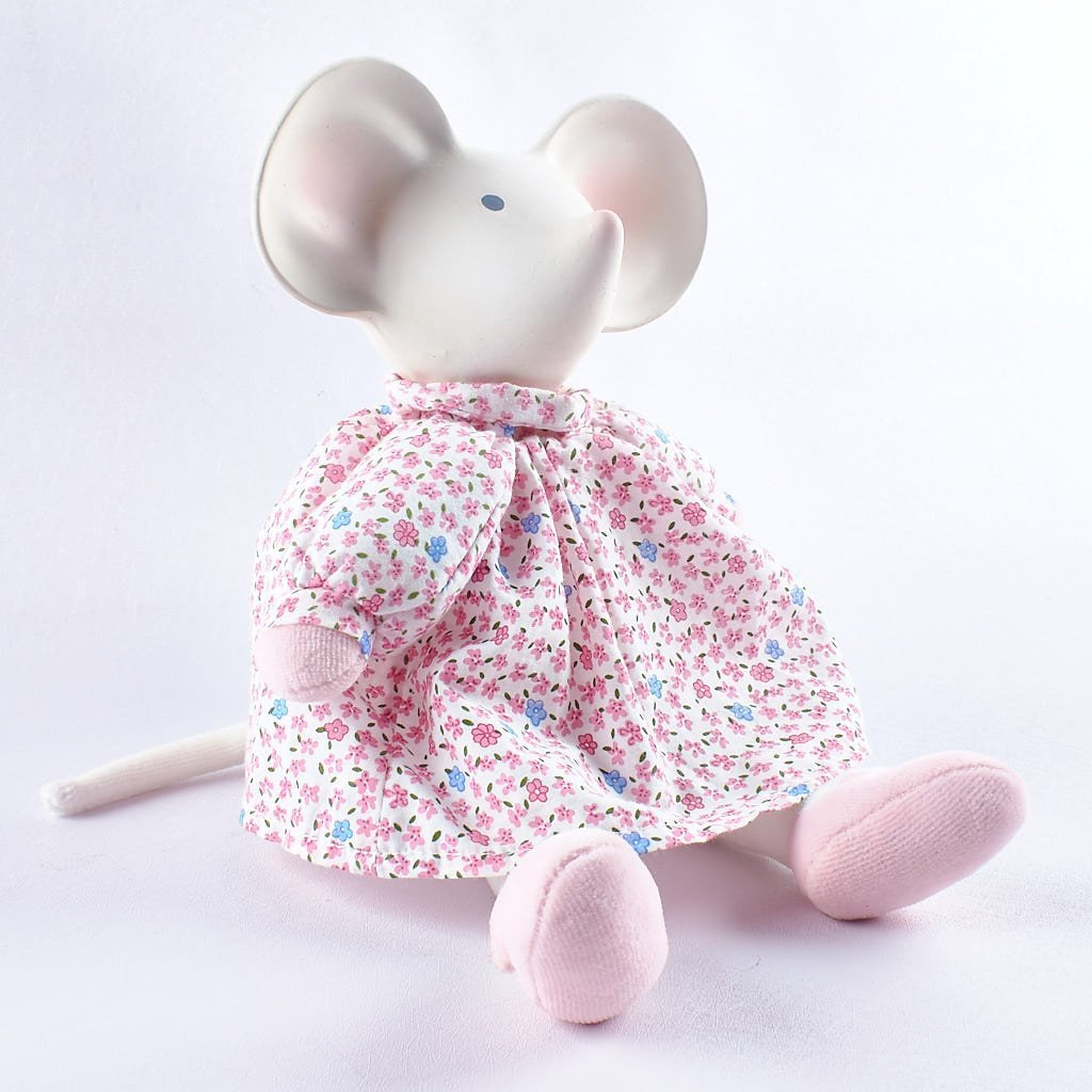 Meiya the Mouse - Rubber Head Toy in Pink Dress
