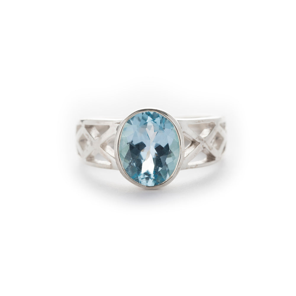 Celtic Design Blue Topaz