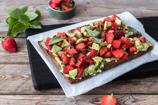 Pizza with Strawberry-Avocado Salsa