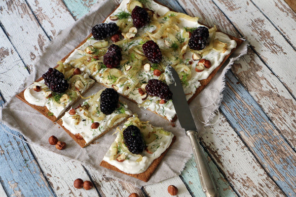 Lizza with Blackberries, Fennel and Hazelnuts