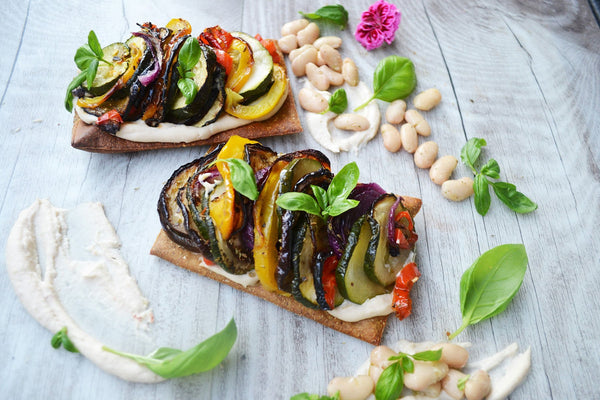 Vegetable Tian with White Bean Puree