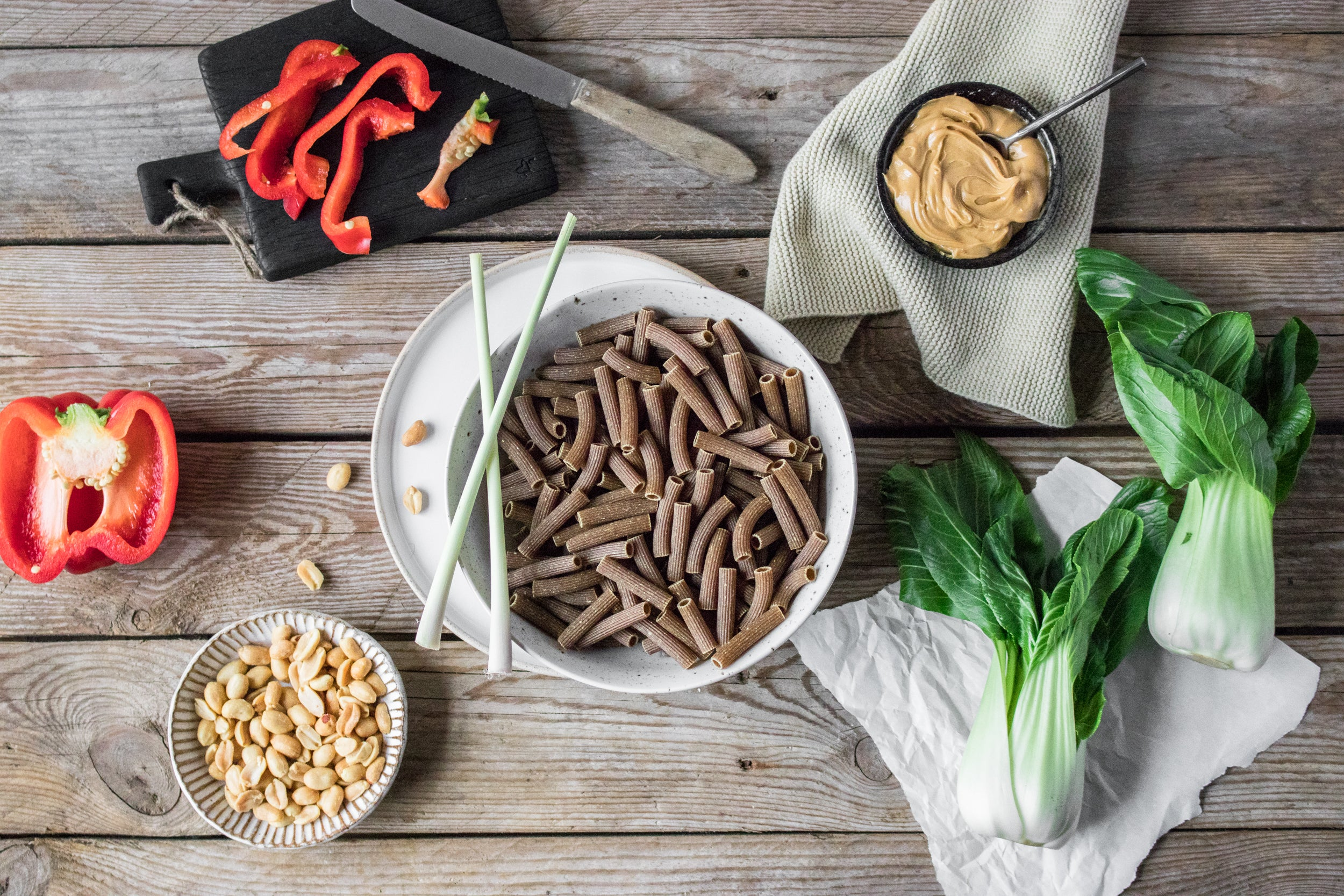 Ingredients for keto Asian Style Lizza Pasta