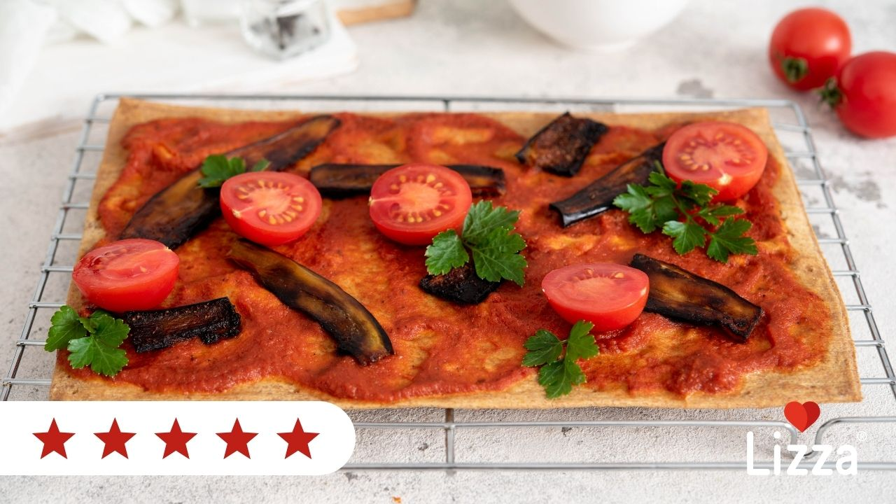 Low carb pizza with vegan bacon recipe
