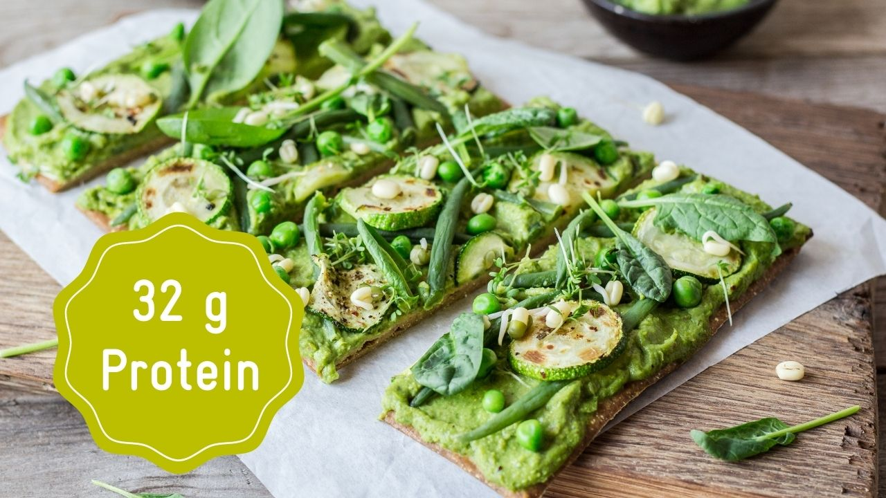 High Protein Pizza with greens