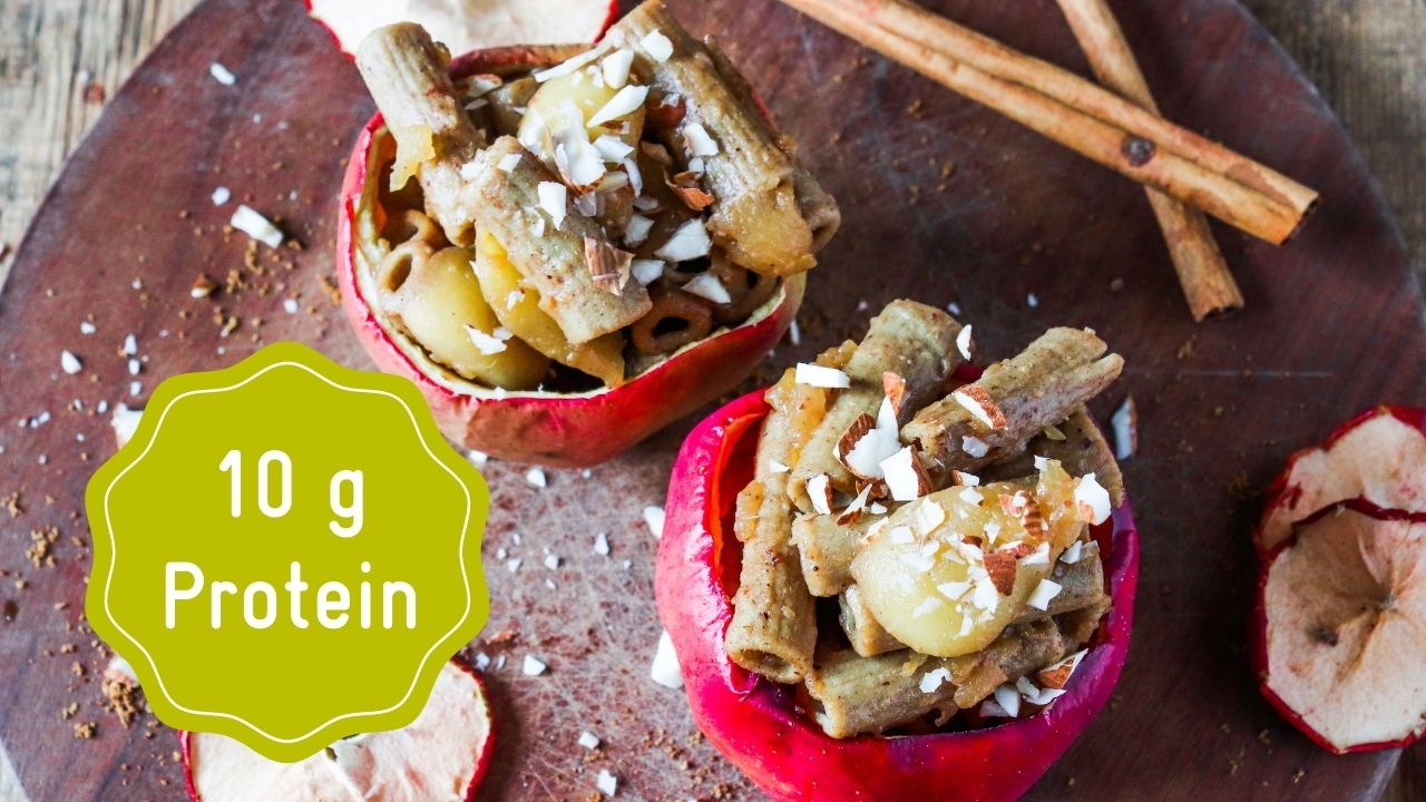 High protein baked apples