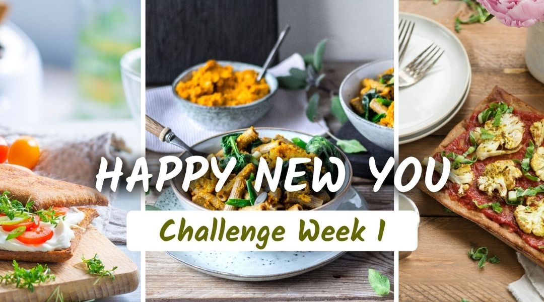 Happy New You challenge to improve habits and reduce cravings