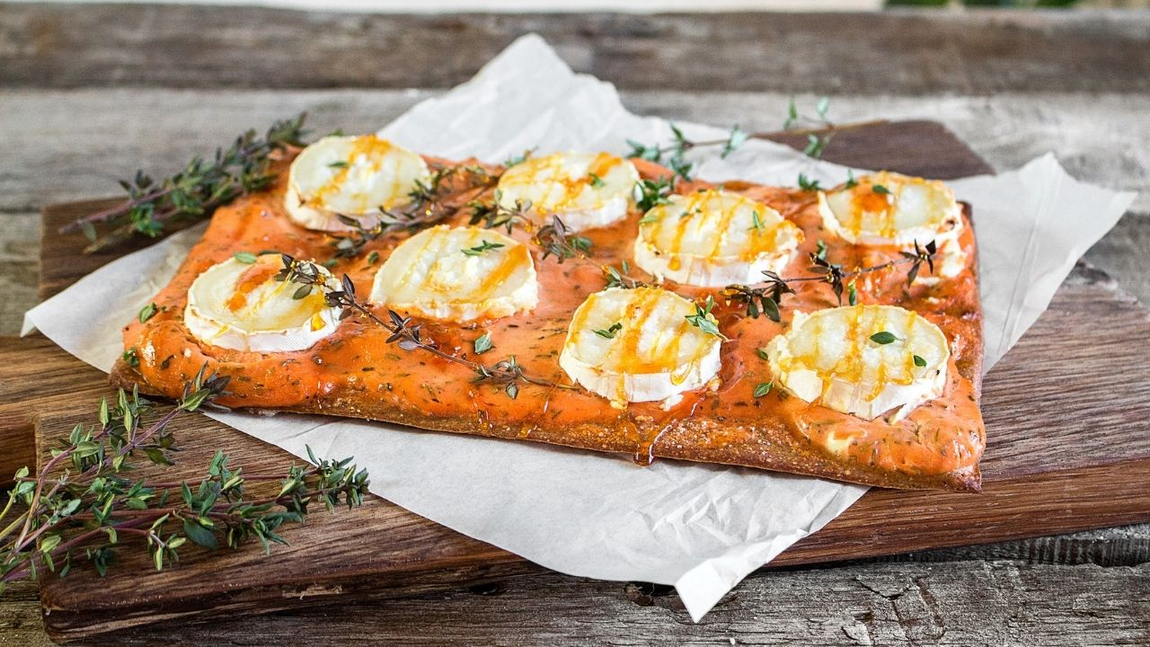 Pizza with goat cheese recipe