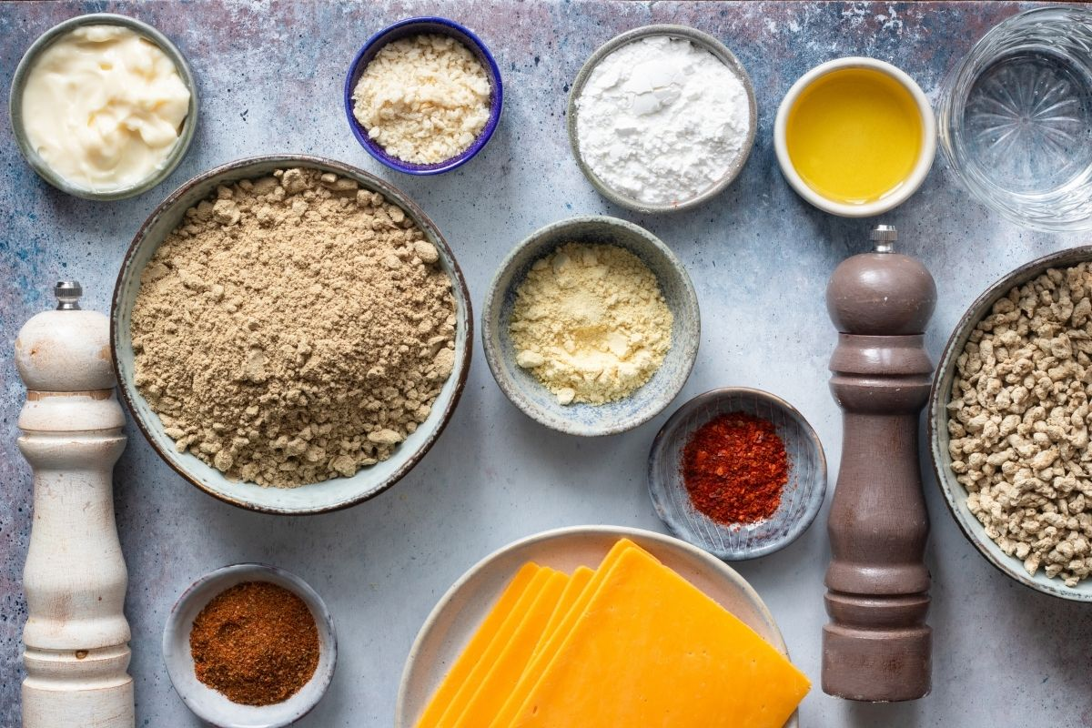 Ingredients for low carb Cheeseburger Sliders