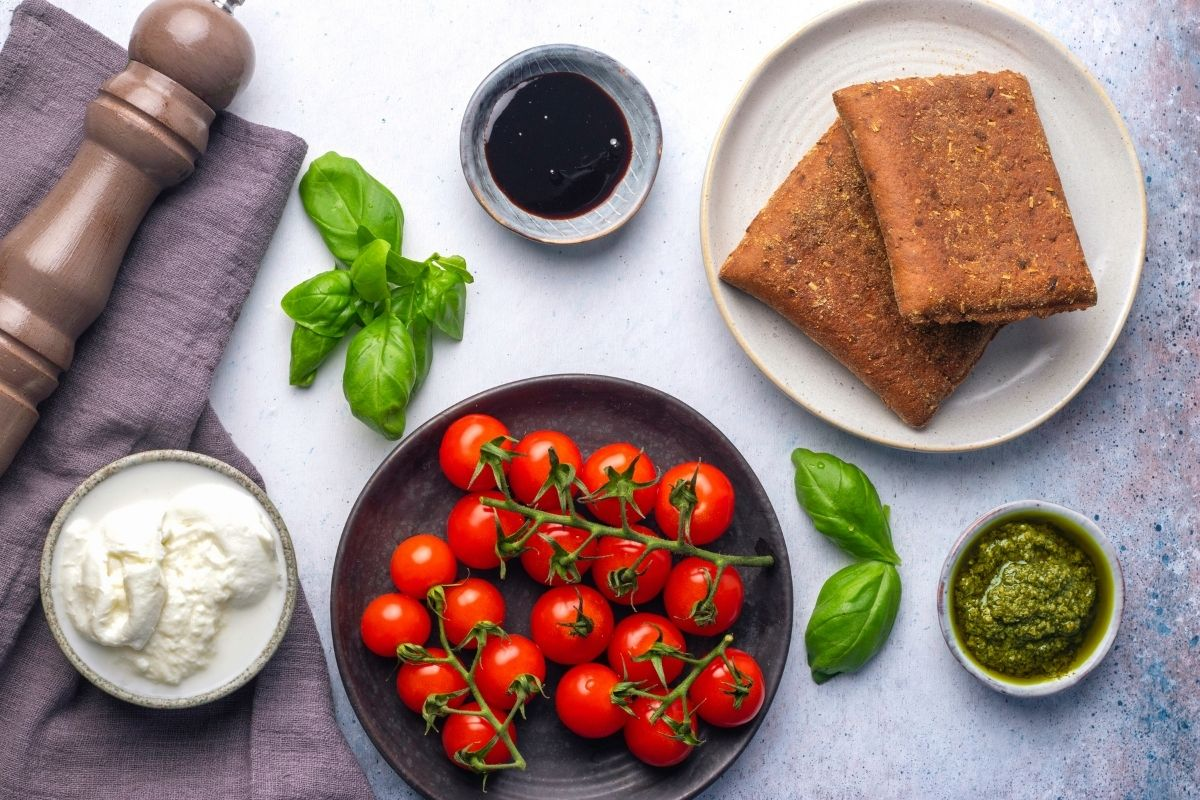 Ingredients for Low Carb Grilled Cheese Sandwich