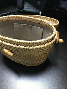 Nantucket Wicker Purse Lined- W2-R